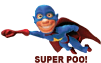 Septic System Pumping Hero, SuperPoo!