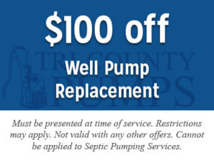 $100 off Well Pump Replacement